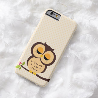 Hibou orange adorable coque iPhone 6 barely there