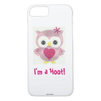Hibou rose je suis un coque iphone de huée