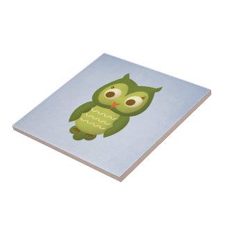 Hibou sage petit carreau carré
