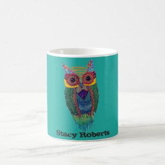 Hibou tribal mug