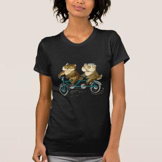 Hiboux de bicyclette t-shirt