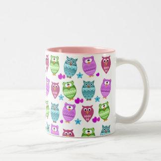 hiboux mignons tasse 2 couleurs