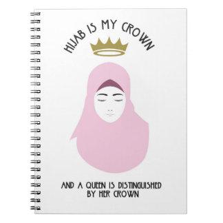 Hijab est ma couronne - carnet de notes à spirale