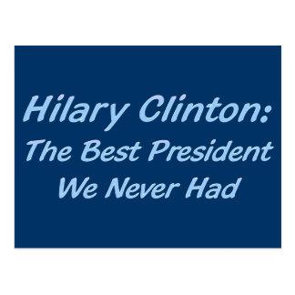 Hilary Clinton le meilleur président que nous Carte Postale