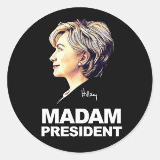 "Hillary Clinton ""Madame président"" autocollant"