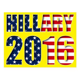 Hillary Clinton pour le président carte postale