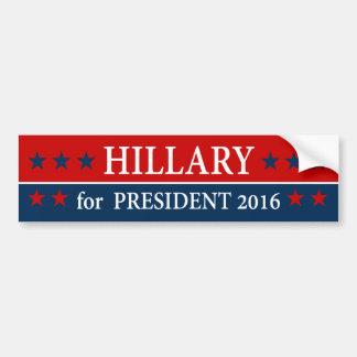 """""""HILLARY pour le président 2016 """" Autocollant De Voiture"""