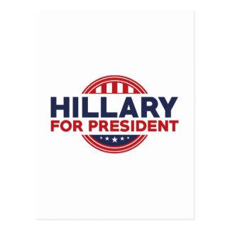 Hillary pour le président cartes postales