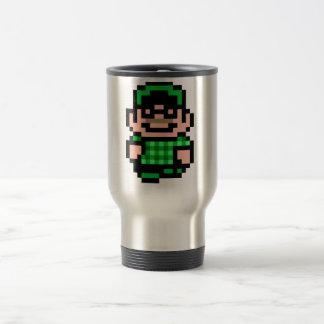 hippie à 8 bits mug de voyage
