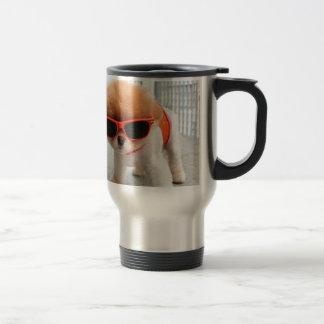 hippie-chiots mug de voyage en acier inoxydable