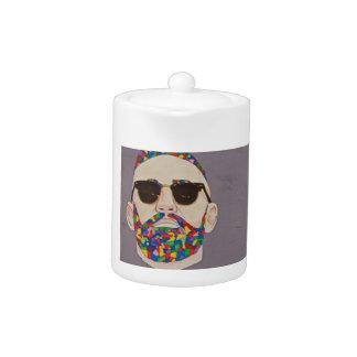 Hippie de barbe d'arc-en-ciel