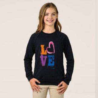 hippie mignon de conception de sweatshirt d'amour