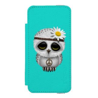 Hippie mignonne de hibou de Milou de bébé Coque-portefeuille iPhone 5 Incipio Watson™