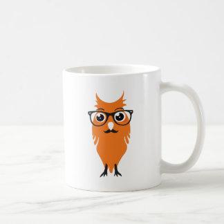 Hippie orange de hibou mug