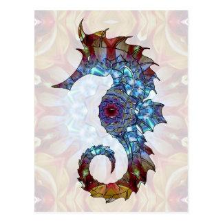 Hippocampe 04 de mandala carte postale