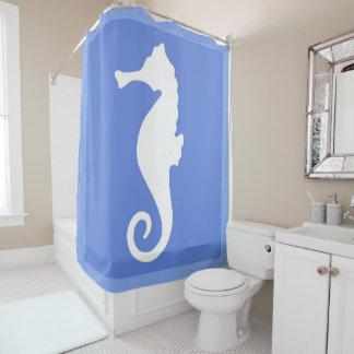 Hippocampe bleu rideaux de douche