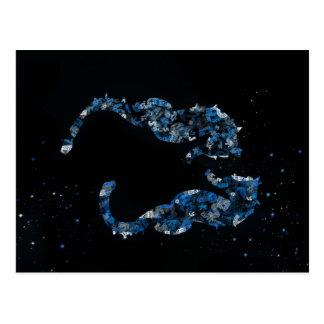 hippocampe carte postale