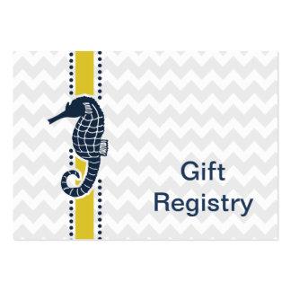 hippocampe de chevron, liste de cadeaux de plage cartes de visite professionnelles