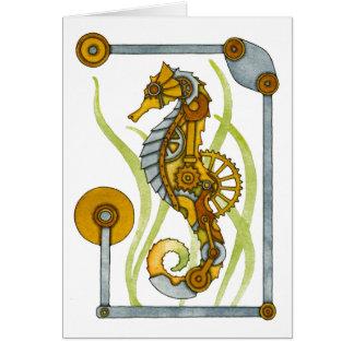 Hippocampe de Steampunk Carte
