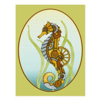 Hippocampe de Steampunk Carte Postale