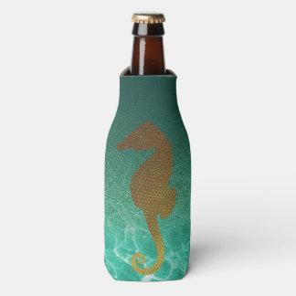 Hippocampe d'or et glacière de bouteille de