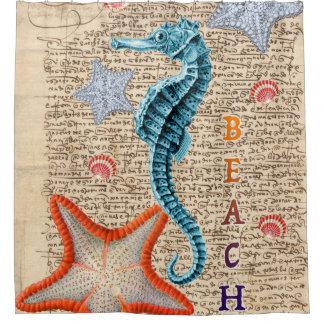 Hippocampe minable rideaux de douche
