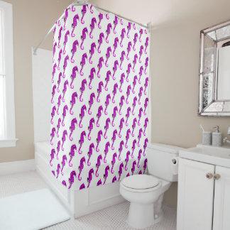 Hippocampes de lavande rideaux de douche