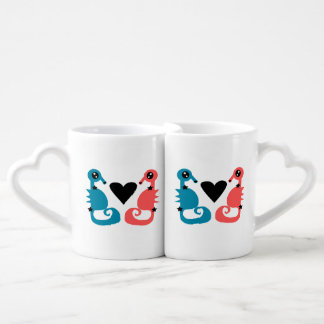 Hippocampes divins de l'amour de double d'amour mug