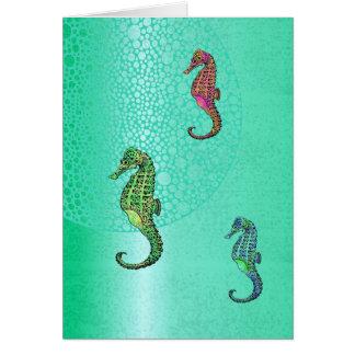 Hippocampes et blanc d'Aqua Carte
