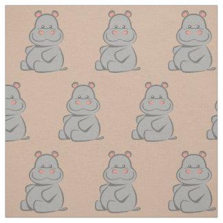 Hippopotame de bébé tissu