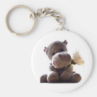 Hippopotame heureux porte-clés