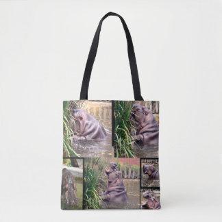 Hippopotame, _Photo_Collage, Tote Bag