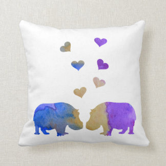 Hippopotames Coussin
