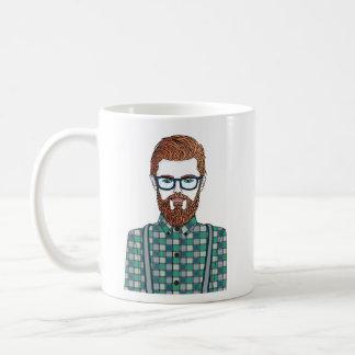 hipster mug blanc