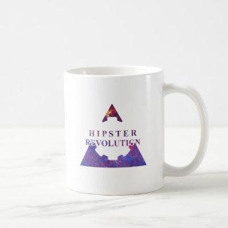 Hipster Revolution Gear Mug Blanc