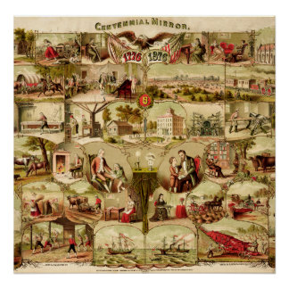 Histoire centennale 1776-1876 des USA Poster