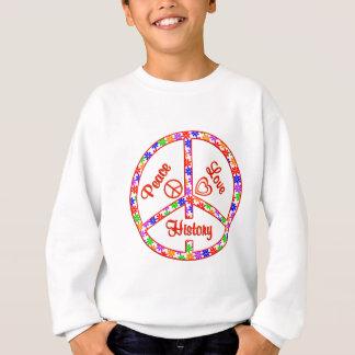Histoire d'amour de paix sweatshirt