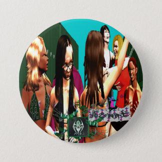 HISTOIRE DE BRÛLURE : Poids de plume avec FairyT Badge Rond 7,6 Cm