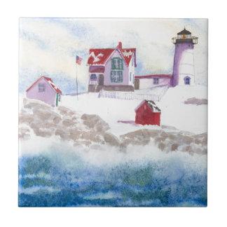hiver au phare de protubérance dans le carreau de
