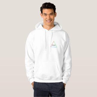 Hiver blanc d'Ian de sweat - shirt à capuche