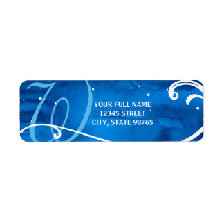 Hiver bleu fait sur commande des étiquettes de