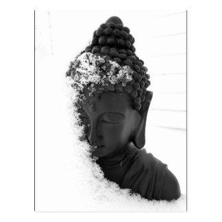 Hiver Bouddha Carte Postale