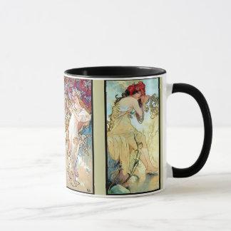 Hiver d'automne d'été de ressort mug