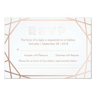 Hiver géométrique de | épousant RSVP Carton D'invitation 8,89 Cm X 12,70 Cm