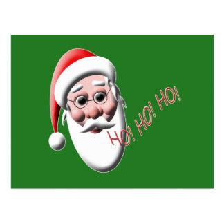 Ho ! Ho ! Ho ! Cartes postales vertes de Noël de