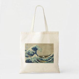 Hokusai - la grande vague outre de Kanagawa Sac En Toile Budget