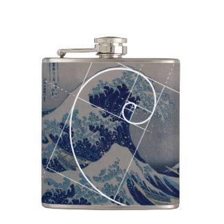 Hokusai ontmoet Fibonacci, Gouden Verhouding Heupfles