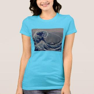 Hokusai ontmoet Fibonacci, Gouden Verhouding T Shirt
