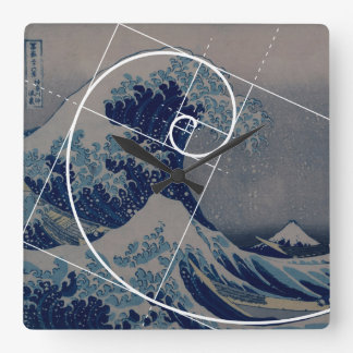 Hokusai ontmoet Fibonacci, Gouden Verhouding Vierkante Klok