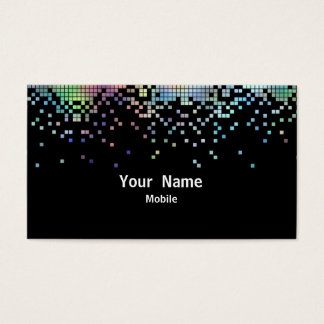 Hologramme élégant de paillettes cartes de visite